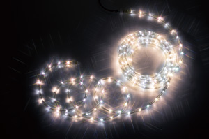 【送料無料】【ジェフコム/イルミネーション】PR3S-E24-08WL LEDフトネオン(40mmピッチ)シリーズ 8m 白・電球色 JAN:4937897129056