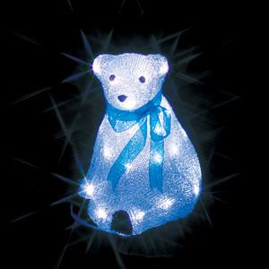 【送料無料】【ジェフコム/イルミネーション】STM-F11-MA LEDクリスタルモチーフ 白クマ(中)A JAN:4937897130397