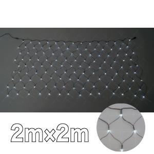 【送料無料】【ジェフコム/イルミネーション】SJ-N20-WW LEDルミネーション(連結タイプ) LEDクロスネット 2m×2m 白・白 JAN:4937897130823