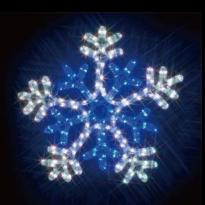 【送料無料】【ジェフコム/イルミネーション】SJ-C103WB-JT LEDルミネーション(連結タイプ) LEDジョイントモチーフ 雪の結晶(白・青) JAN:4937897131059