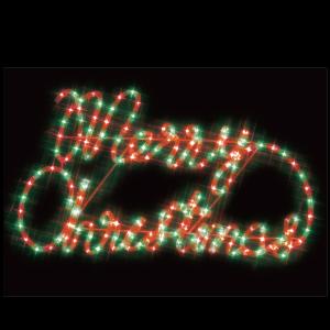 【送料無料】【ジェフコム/イルミネーション】SJ-A30RG-JT LEDルミネーション(連結タイプ) LEDジョイントモチーフ メリークリスマス(赤・緑) JAN:4937897131134