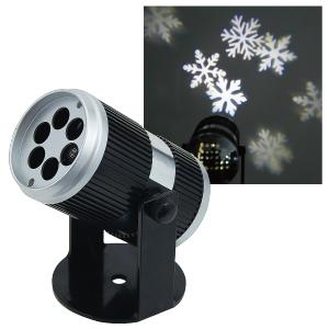 【送料無料】【ジェフコム/イルミネーション】STM-P02 LEDプロジェクター 雪の結晶 白 JAN:4937897131295