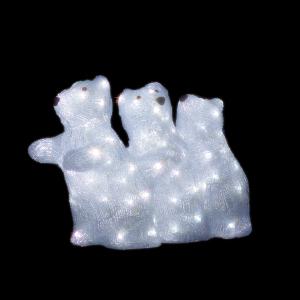 【送料無料】【ジェフコム/イルミネーション】SJ-F32-JT LEDルミネーション(連結タイプ) LEDジョイントモチーフ 白クマ(小)C JAN:4937897131424