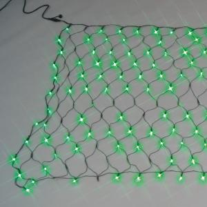 【送料無料】【ジェフコム/イルミネーション】SJ-NA33-GG LEDルミネーション(連結タイプ) LEDクロスネット(ランダム点滅タイプ) 緑・緑 JAN:4937897131554