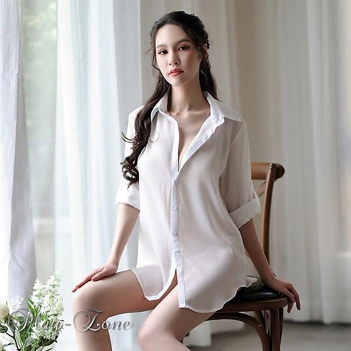 white collared shirt costume