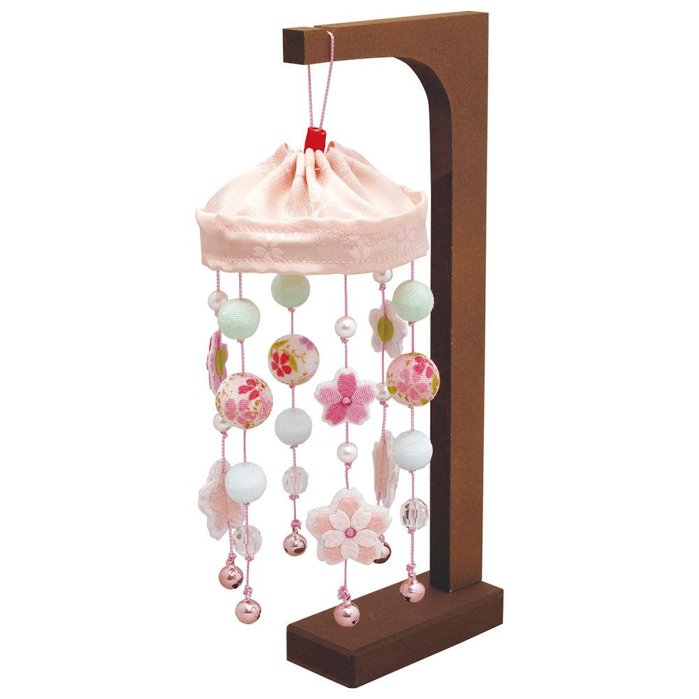 雛人形 きらきら桜のつるし飾り 手作りちりめん細工