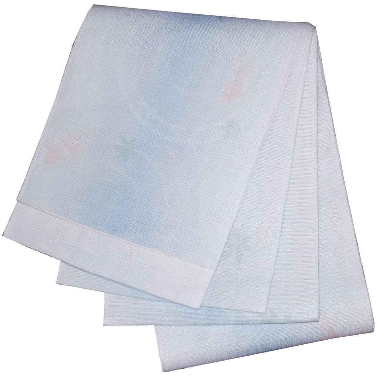 5%OFF クーポン 送料無料 日本製 本麻ボカシ 浴衣帯 半幅帯 半幅帯 小袋帯 金魚柄 水色 出店10周年記念