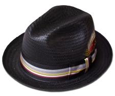 【送料無料】New York Hat(ニューヨークハット)ストローハット #2254 HAVANA, Black