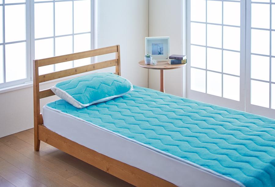 冷感寝具 アイスデラックス 持続冷感 敷きパッド シングル ひんやり 冷たい パイル 夏