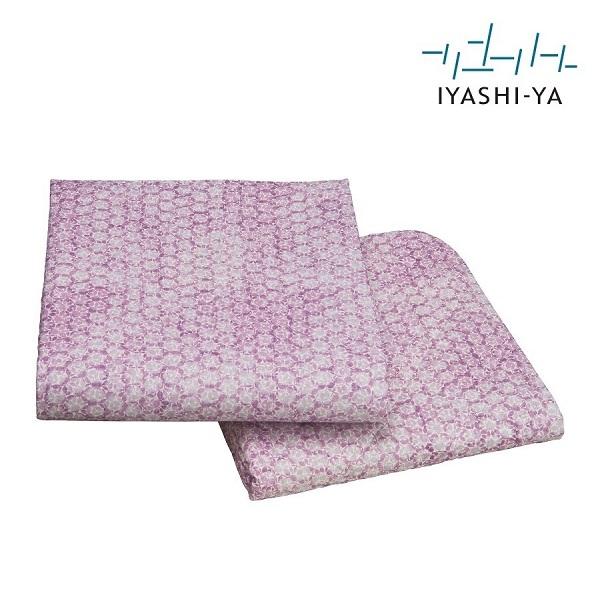 イヤシヤ 本麻 敷きパッド シングル【日本製 麻100 洗える 日本製 涼しい ブルー ピンク 滋賀 西川】