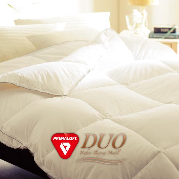 プリマロフト 使用DUO(デュオ) 2枚合わせ 掛け布団 シングル 洗える オールシーズン 二枚合わせ 布団 プリマロフト 人工羽毛 軽い 暖かい 白 1年中 送料無料