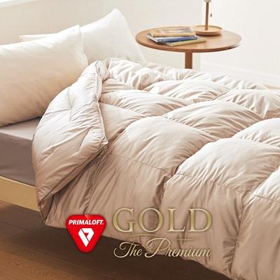 プリマロフト 使用 ゴールド ザ プレミアム 掛け布団 ダブル 人工羽毛 布団 洗える 二層式キルト 掛けふとん 軽い 軽量 暖かい 送料無料