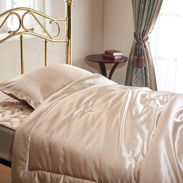 肌掛け布団 シルクスキン・ザ・ゴールド2 シングル 洗える シルク 布団 寝具 オールシーズン シャンパンゴールド 送料無料