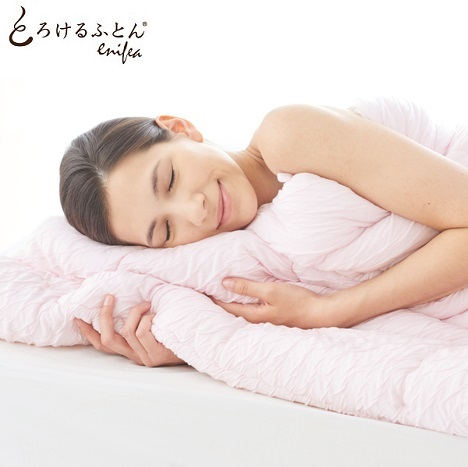 掛け布団カバー とろけるふとん enifea 2 ダブル 柔らかい 敏感肌 肌にやさしい 赤ちゃん 洗える ベビー オールシーズン ニット 送料無料