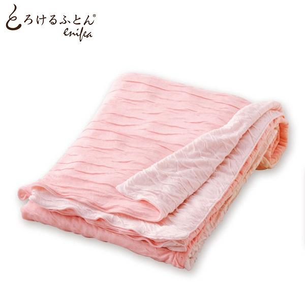 とろけるふとん enifea 掛け布団カバー ダブル サーモン×ピンク【掛けふとん カバー 柔らかい 敏感肌 肌にやさしい 赤ちゃん 洗える 軽い 軽量 オールシーズン 日本製 送料無料】