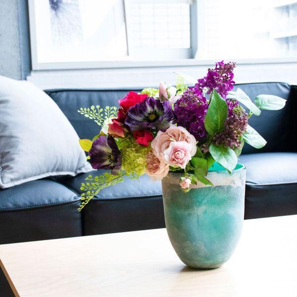 【39ショップ】【送料無料ライン対応】アーティフィシャルフラワー造花ライラックとポピーのスモークグリーンベースS アーティフィシャルフラワー PRIMA |