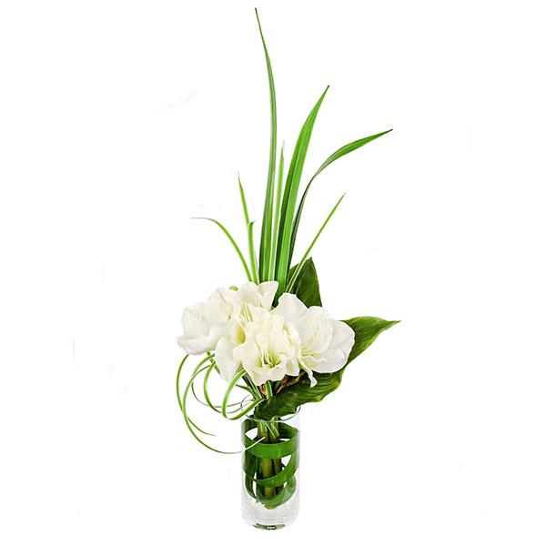 あす楽【39ショップ】【送料無料ライン対応】フラワーアレンジメント 造花 アーティフィシャルフラワー アマリリス PRIMA|フラワーアレンジ 枯れない 花 引っ越し祝い 新築祝い オフィス プレゼント