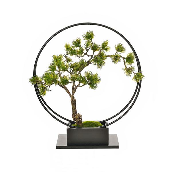 【39ショップ】【送料無料ライン対応】インテリア フェイクグリーン 人工観葉植物 造花松・吹き流しS / リングベース GREENPARK | 観葉植物 観葉 植物 人工 人工植物 インテリアグリーン フェイク グリーン