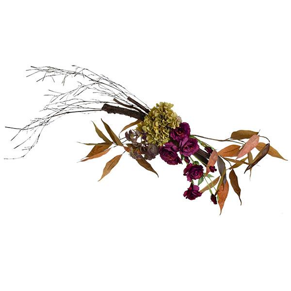 白樺とトルコキキョウの壁掛け造花 アーティフィシャルフラワー PRIMA |多肉植物 モンステラ 季節の花 贈り物 プレゼント ウォールデコ スワッグ シーズンアレンジメント おしゃれ エントランス リビング インテリア 装花 お祝い アレンジ プリマ