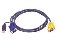 【全品ポイント2倍!】【メーカー取り寄せ】 ATEN KVMケーブル スリムタイプ USB-SPHD15・PS/2 to USB変換機能付・6m 2L-5206UP/ATEN