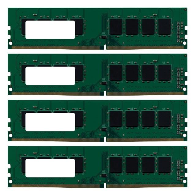 【バルク品】 増設メモリ 8GB×4枚組 DDR4 2133MHz PC4-17000 288pin DIMM GB2133-8GX4