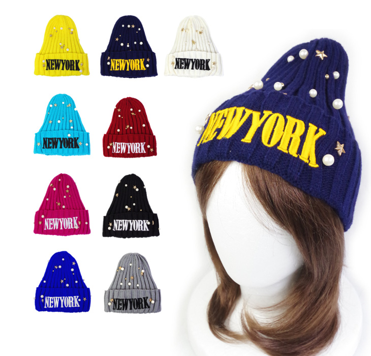 WDSKY Novelty Beanies Skull Hat Knit Embroidered Hats With words Logo Caps  Women Men