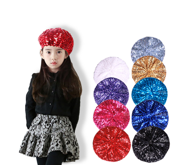 The flamboyance money of outstanding woman girl beret high school student child  child black red ... 28757c7325c