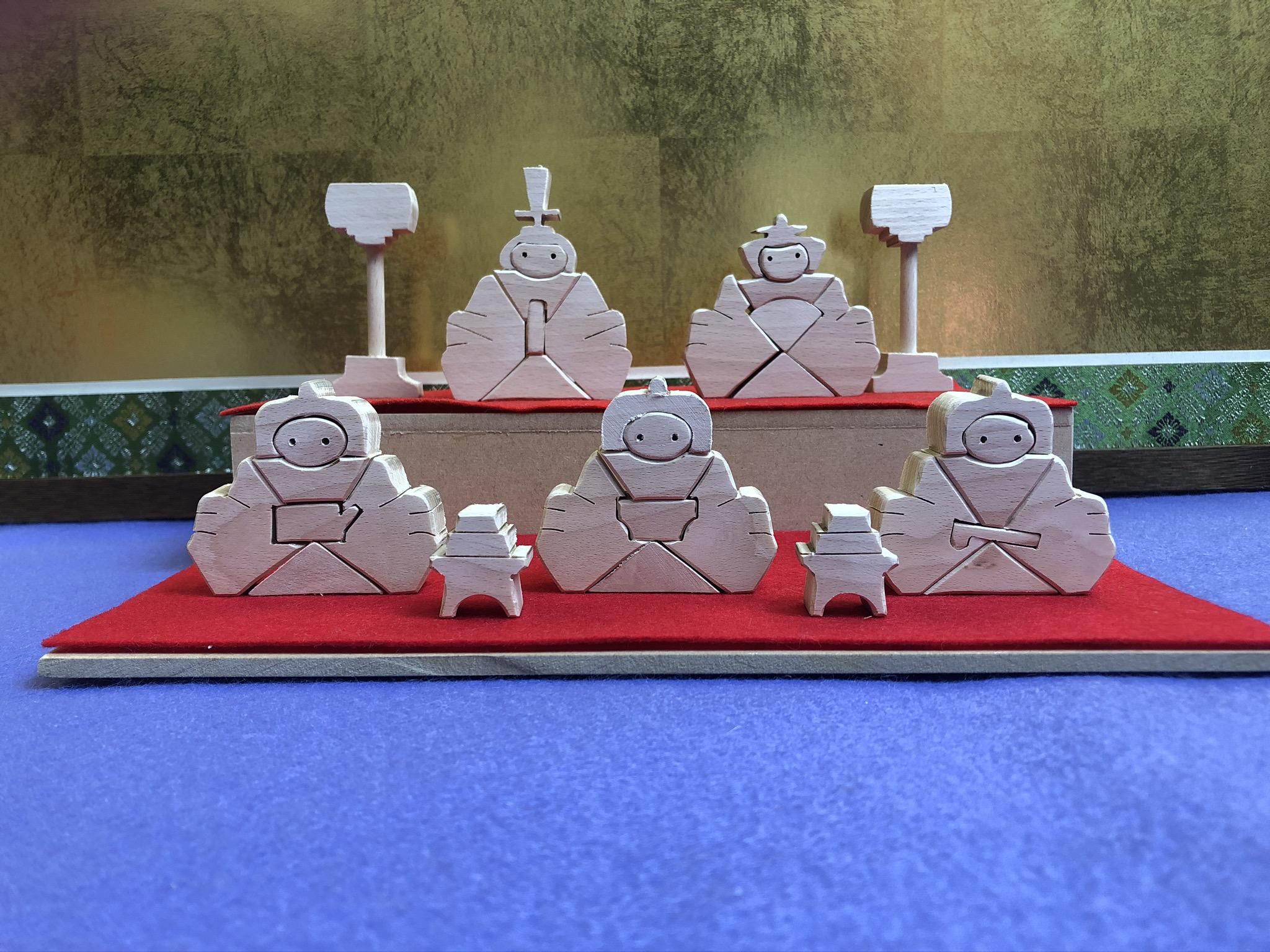 知育玩具 伝統工芸品 公式ストア 1点もの 新作通販 ☆送料無料 ひな人形 ペイント用