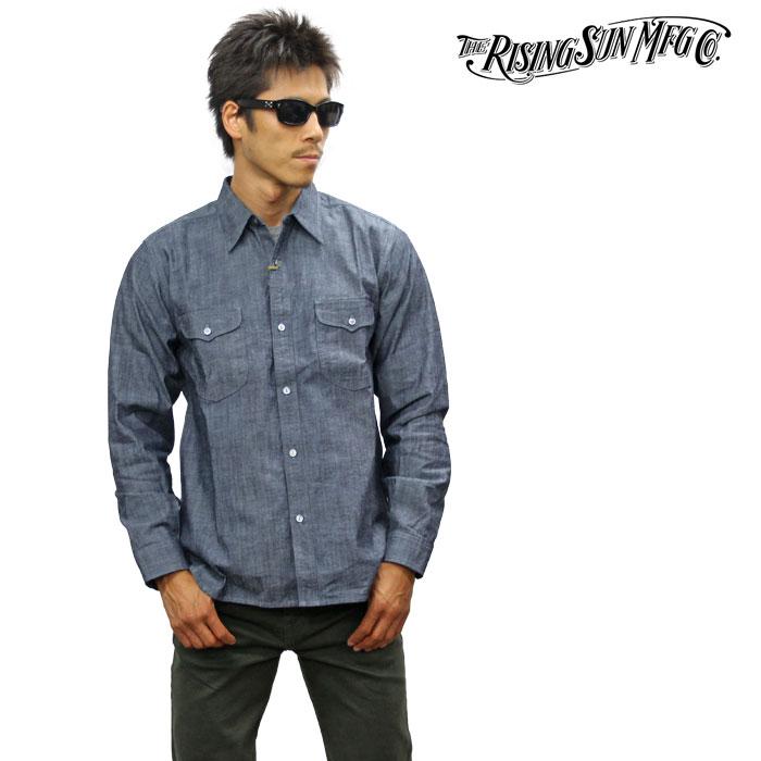 RISING SUN ライジングサン Messenger LS Shirt 長袖シャツ メッセンジャーシャツ rsmw020-cham