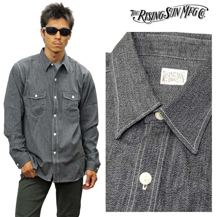 RISING SUN ライジングサン Messenger LS Shirt 長袖シャツ メッセンジャーシャツ rsmw020-sltp