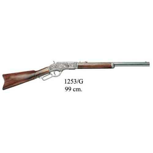 DENIX(デニックス) 【1253G】 ウィンチェスター M73 彫刻 グレー アメリカ19世紀モデル 全長99cm 模造(美術装飾)品