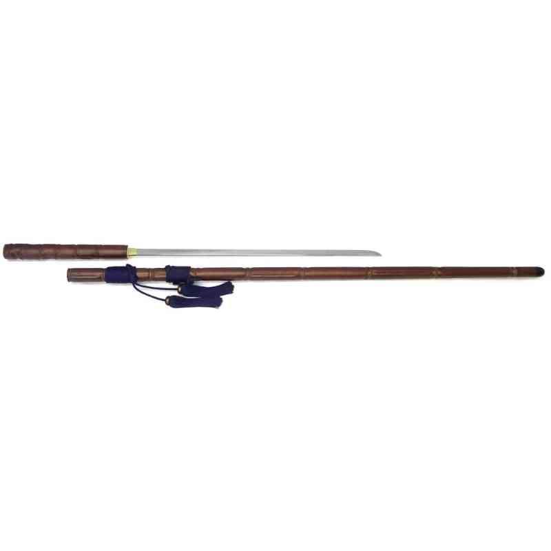 【KM-2】 尾形刀剣 特殊仕込み杖 黄門様仕込杖 煤竹 模造(美術装飾)品