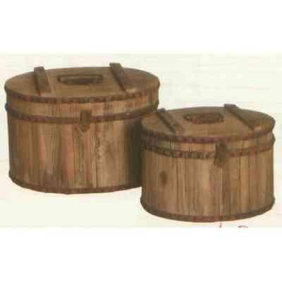 【送料無料】 GARDEN COLLECTION 【37186/37187 ×各1】 ガーデンボックス 大・小 各1個 計2点セット 360×245×280mm 木、鉄製