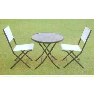 【送料無料】 GARDEN COLLECTION 【80953】 ガーデンテーブル1個 チェア2個 計3点セット φ710×700mm 11.0kg 鉄、ナイロン製