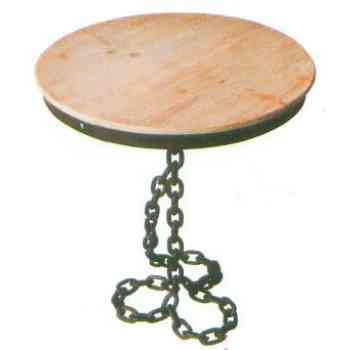 【送料無料】 GARDEN COLLECTION 【81400】 テーブル φ610×730mm 11kg 木、鉄製