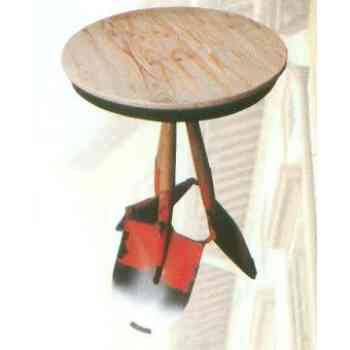 【送料無料】 GARDEN COLLECTION 【81415】 テーブル オレンジ φ510×760mm 7.2kg 木、鉄製