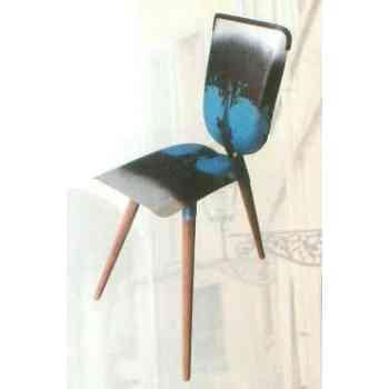 【送料無料】 GARDEN COLLECTION 【81422】 チェアー ブルー 440×860×590mm 4.5kg 木、鉄製