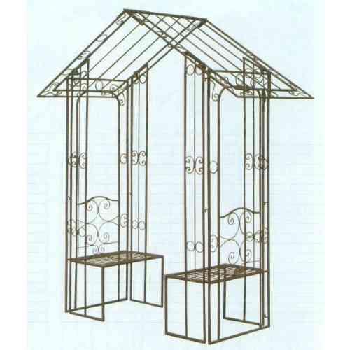 【送料無料】 GARDEN COLLECTION 【85722】 ガーデンアーチ ベンチ付 2050×2380×700mm 42.0kg 鉄製