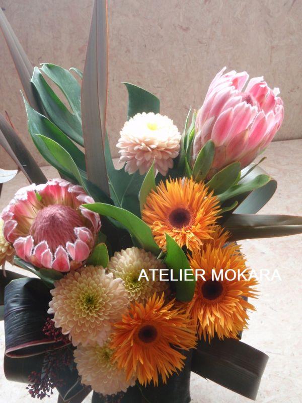 花束 誕生日 生花アレンジメント 【フリースタイル】 誕生日 贈り物 ギフトに個性的なお花を 【MK】