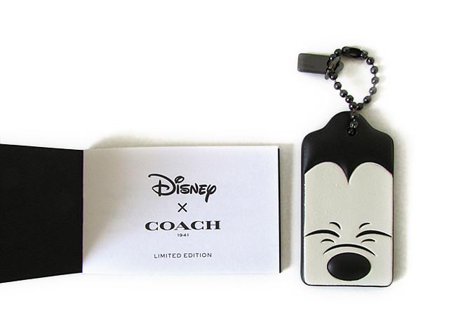 【スペシャル】Coach コーチ Disney ディズニー ミッキー ハングタグ 54090 ブラック/ホワイト【新品】COACH x DISNEY MICKEY HANGTAG SQUINTING (Style 54090 DKA1G) DK/Black White