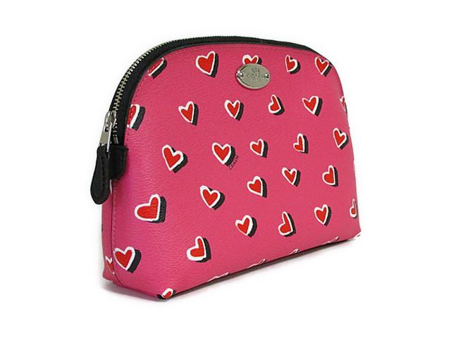 【スペシャル】Coach コーチ ポーチ ハートプリント コスメティック ケース 52685 ピンク【新品】COACH Heart Print Cosmetic Case (Style F52685 SV/P1) SV/Pink Multicolor