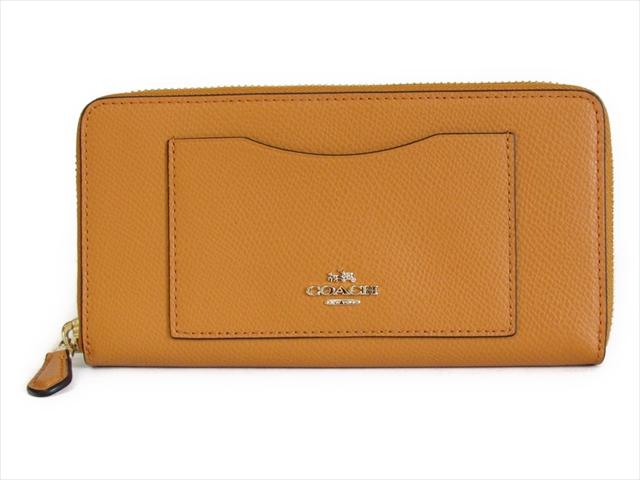 【スペシャル】コーチ 長財布 クロスグレイン アコーディオン ジップ COACH Crossgrain Leather Accordion Zip 58411E IMEGG IM/Orange Peel [並行輸入品]