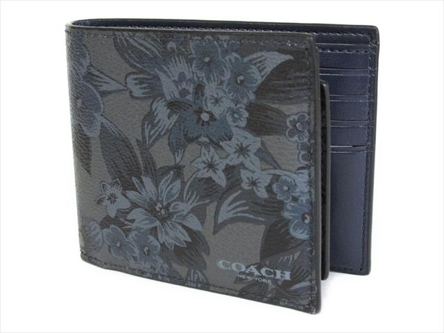 【スペシャル】コーチ 2つ折り 財布 フローラル ハワイアン COACH 3 In 1 Floral Hawaiian F59469 M50 Blue Floral Hawaiian [並行輸入品]