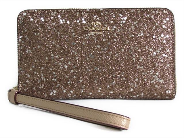 【スペシャル】コーチ ボックス スター グリット フォン ウォレット COACH Boxed Star Glitter Phone Wallet F23448 IMGLD IM/Gold [並行輸入品]