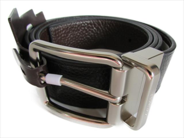 【スペシャル】コーチ ベルト ペブル リバーシブル COACH Wide Harness Cut-To-Size Reversible Pebble Belt F64840 AQ0 Black/Brown