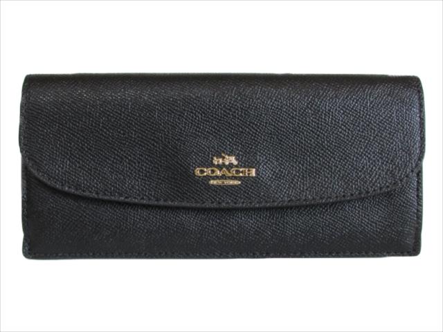 【スペシャル】[コーチ] 長財布 クロスグレイン COACH Crossgrain Leather Soft WALLET F54008 IMBLK IM/Black