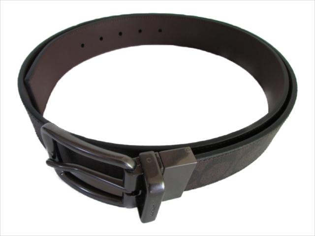 【スペシャル】[コーチ] ベルト シグネチャー COACH Wide Harness Cut-To-Size Signature Belt F64839 MA/BR Mahogany/Brown [並行輸入品]
