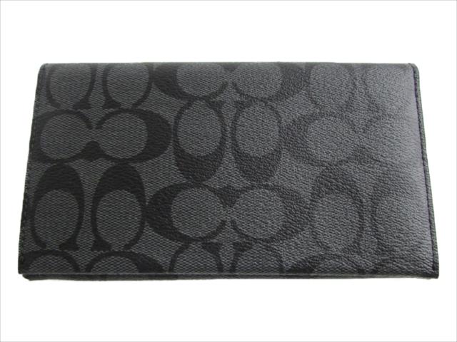 【スペシャル】[コーチ] 長財布 フォンケース COACH Universal Phone Case Signature F32625 QBMI5 QB/Charcoal/Black