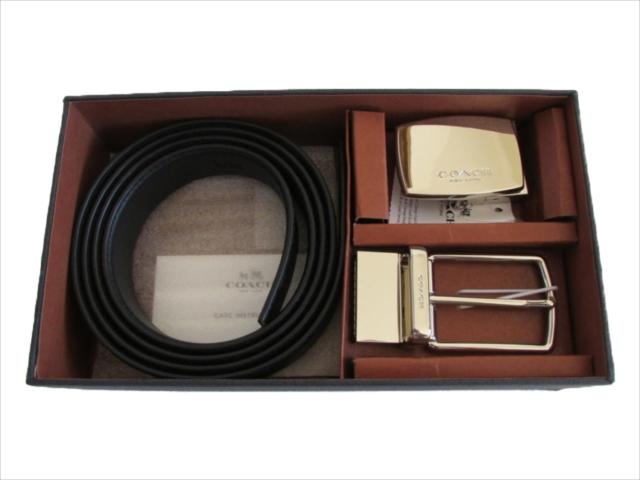 【スペシャル】[コーチ] ベルト シグネチャー 2WAY COACH MPLQ Belt Box Signature F65242 CQ/BK Charcoal/Black [並行輸入品]