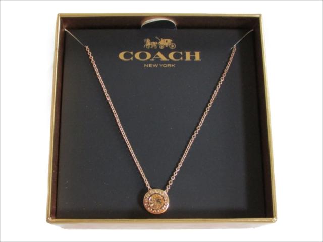 【スペシャル】[コーチ] ペンダント ネックレス COACH Open Circle Stone Necklace F54514 RGD rosegold
